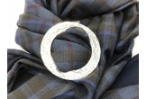 Sound of Mull Tartan Seasgair Scarf with scarf ring